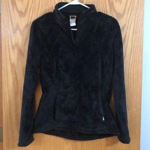 North Face cozy teddy bear quarter zip sweater
